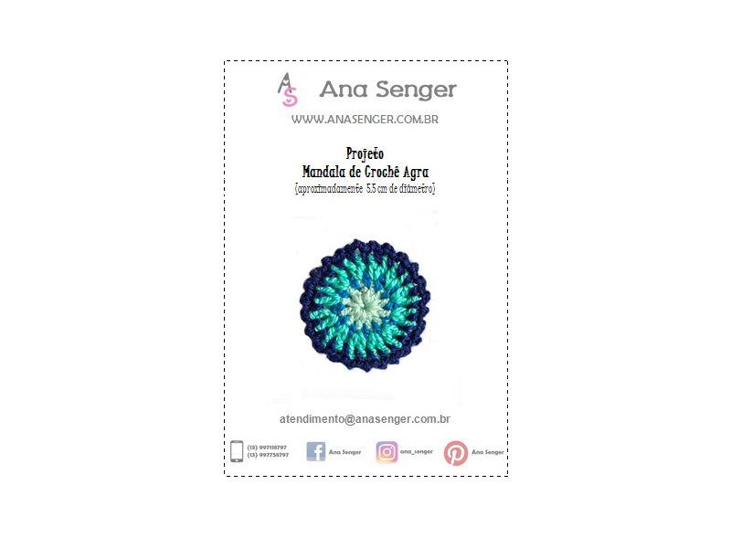 Projeto Mandala de Crochê Agra
