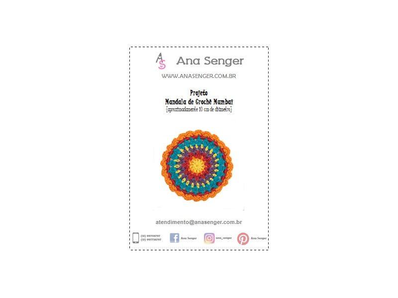 Projeto Mandala de Crochê Mumbai