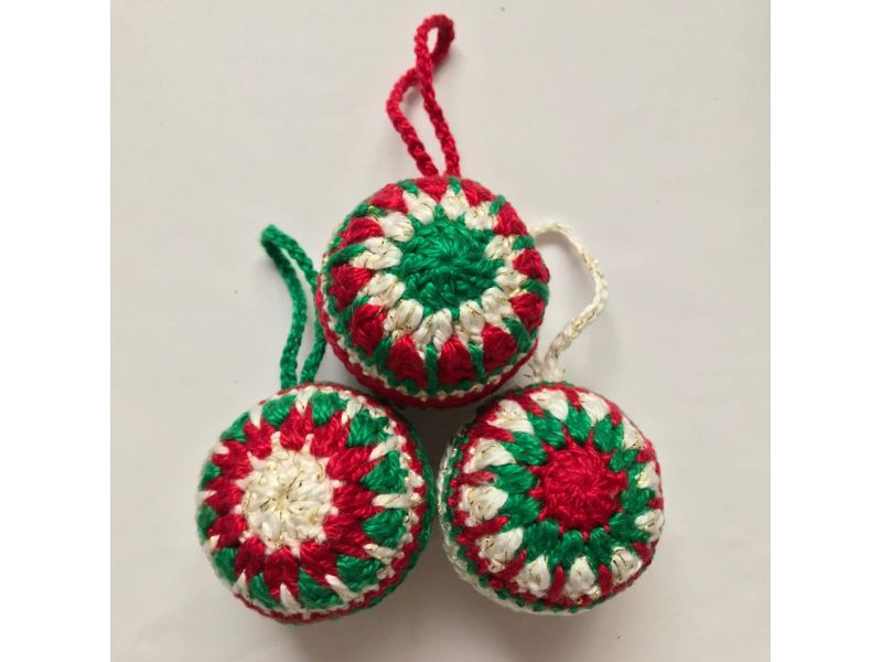 Bola de Natal em Crochê