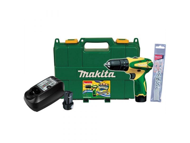 Parafusadeira Furadeira de Impacto 3/8 2 Baterias 12V HP330DBR Makita