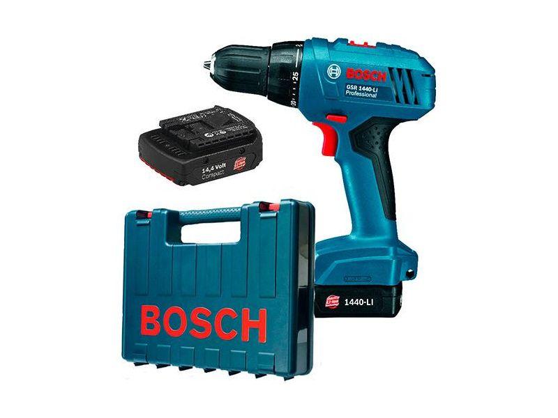 Parafusadeira / Furadeira Bosch (19E8.0E0) GSR 140-LI Azul