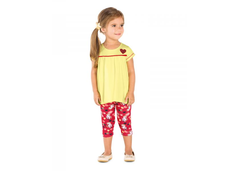 CONJUNTO BATA COM CICLISTA VISCOTORCION/ COTTON LEVE
